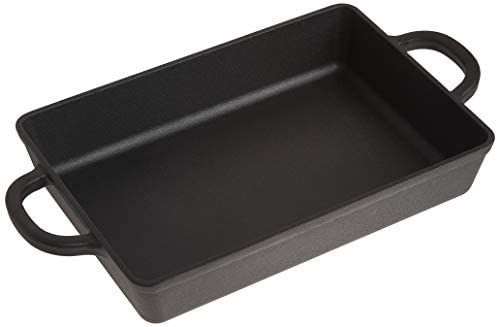 Crock Pot Artisan 13 Inch Preseasoned Cast Iron Rectangular Lasagna Pan