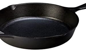 "Lodge Pre-Seasoned Cast Iron Skillet With Assist Handle, 10.25"", Black"