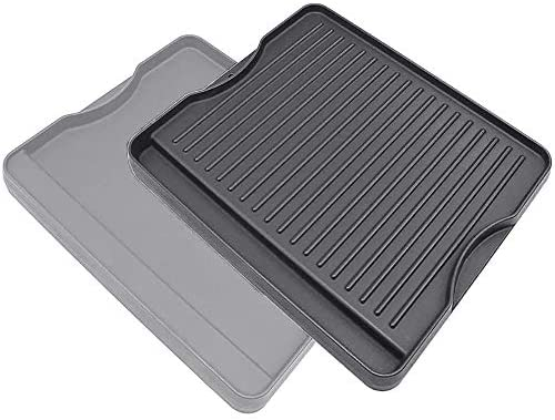 """QuliMetal Reversible Griddle Cast Iron Griddle for All Camp Chef 14"""" and 16"""" Stoves, 1 Pack"""