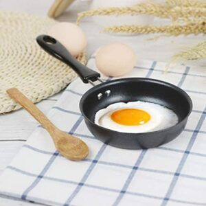Valuu Nonstick Frying Pan Small Egg Pancake Round Mini Non Stick Fry Pan 4.7-inch