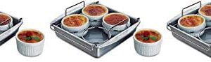 Chicago Metallic Professional Crème Brulee, 6 Piece Set, Stainless Steel (Three Pack)
