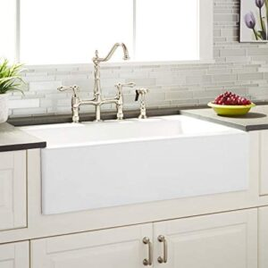 "Signature Hardware 935144 Almeria 33"" Farmhouse Single Basin Cast Iron Kitchen Sink"