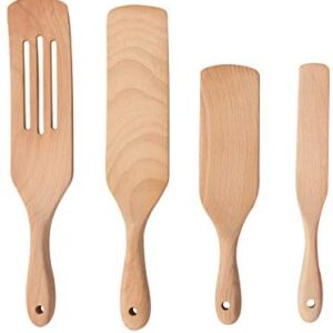 Wooden Spurtles Kitchen Tools Set, Moliy Wood Cooking Utensils Non-stick Kitchen Utensil Set, Slotted Spatula Sets for Cooking