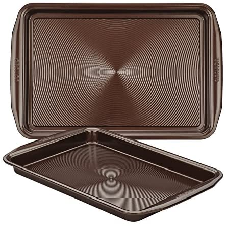 Circulon Nonstick Bakeware Set with Nonstick Cookie Sheets / Baking Sheets - 2 Piece, Chocolate Brown