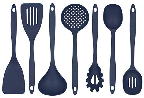 Glad Cooking Kitchen Utensils Set – 7 Pieces, Nylon Tools for Nonstick Cookware, Blue