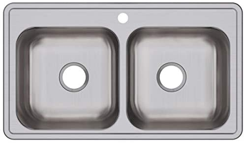 Dayton DSE233191 Equal Double Bowl Drop-in Stainless Steel Sink